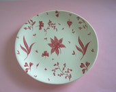 Vintage Johnson Bros Pink Floating Leaves small plate