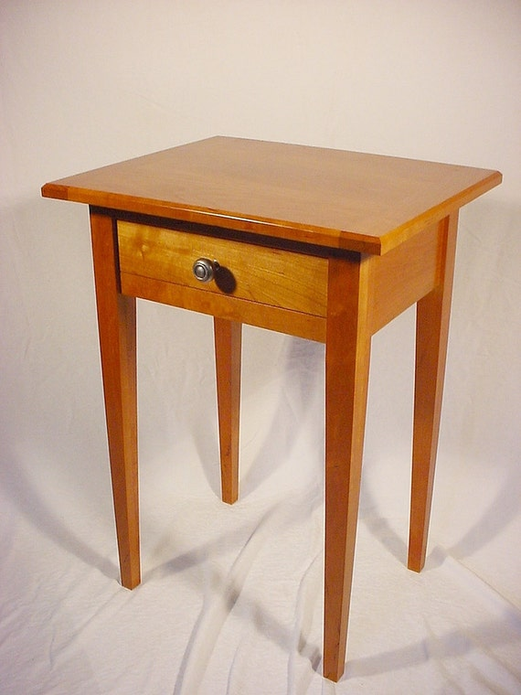 Shaker End Table Made From Solid Cherry