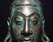 Buddha Mask in copper finish