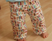 Book pants--cloth diaper pants in custom sizing--World Vision benefit