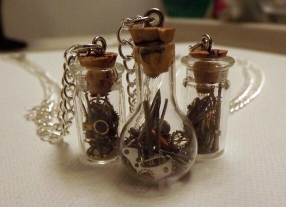 Steampunk Vial Necklaces