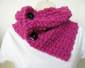 SALE Handmade crochet Neck Warmer Cowl Shoulder warmer  in azalea pink - Free Shipping Etsy
