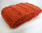 SALE - Hand knitted  lace scarf Neck warmer in pumpkin color