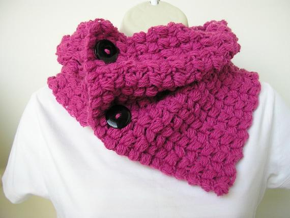 SALE Handmade crochet Neck Warmer Cowl Shoulder warmer in azalea pink ...