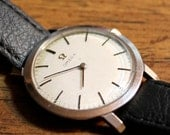 Vintage Omega Watch Slim Wind Up Movement Authentic
