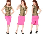 Hot Pink Perfect Skirt , Natural Waist--Medium and Extra Large