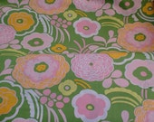 One yard of this Beatiful and bright, pink, white, yellow and green Alexander Henry  floral print
