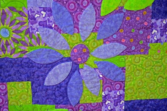 Purple Lotus Lap Quilt