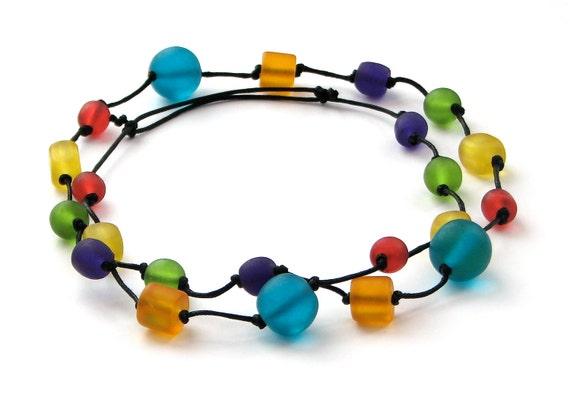 Rainbow Resin Nursing Necklace  - Bright, Non - Toxic Babywearing/ Breastfeeding Necklace