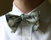 Bow Tie in Liberty Grey Susanna Fabric