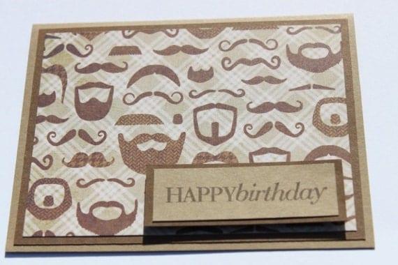 Mustache Birthday Card
