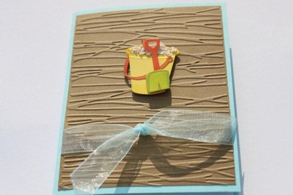 Beach Birthday Card- Pail, Shovel, Sand