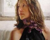 erin with irises