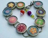Spring beaded charm bracelet