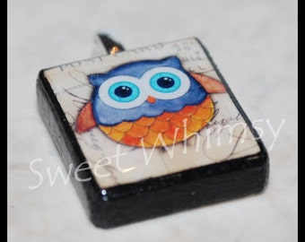 All Eyes on You Owl Scrabble Pendant