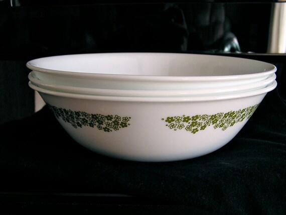 Vintage Corelle Spring Blossom Serving Bowls- Set Of 3
