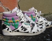 RESERVED 80's Reebok Freestyle Hi-Top Sneakers Cactus Cow Womens Size 8
