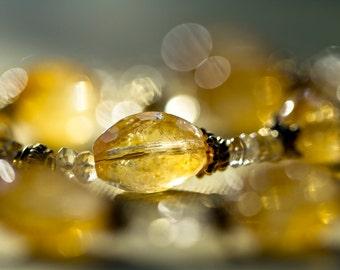 S A L E  Golden Citrine and Vermeil Necklace