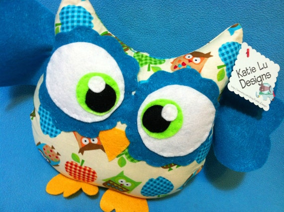 Handmade Plush Owl Toy