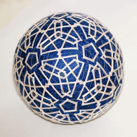 Winter lace temari ball