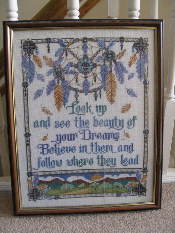 Completed Frame Cross Stitch