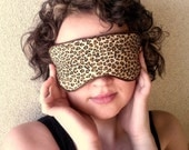 20 % SUPER DISCOUNT / Wild Leopard Handmade Sleep / Eye Mask with Silk Lining / Soft and Padded