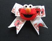 Cute Elmo hair bow with red Elmo centre