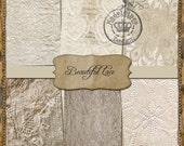 BEAUTIFUL LACE  Instant Download - Digital Background Sheets - vintage -shabby chic - a set of 6 digital papers 8.5x11(No.P2)