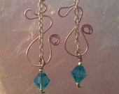 pink wire with blue crystal