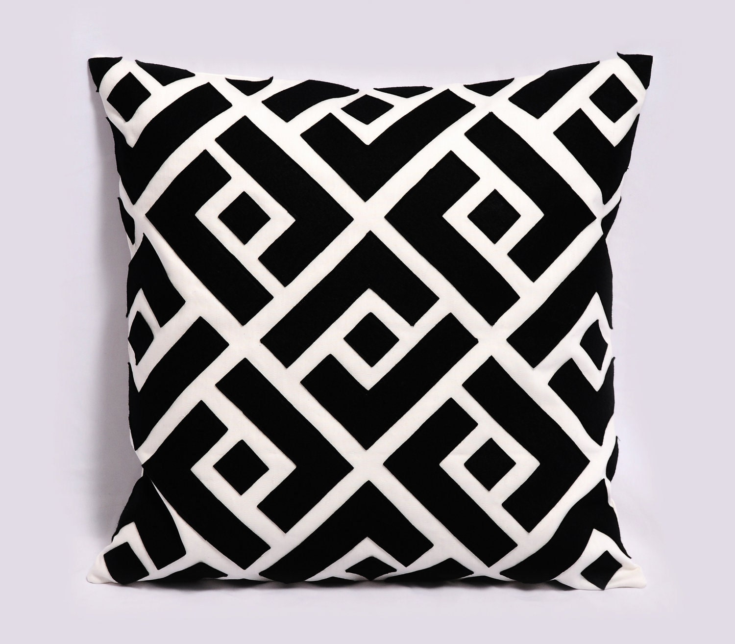 Black And White Geometric Throw Pillows : Items similar to Black and White Pillow Cover, Decorative Pillows, Black throw pillow, 18x18 ...