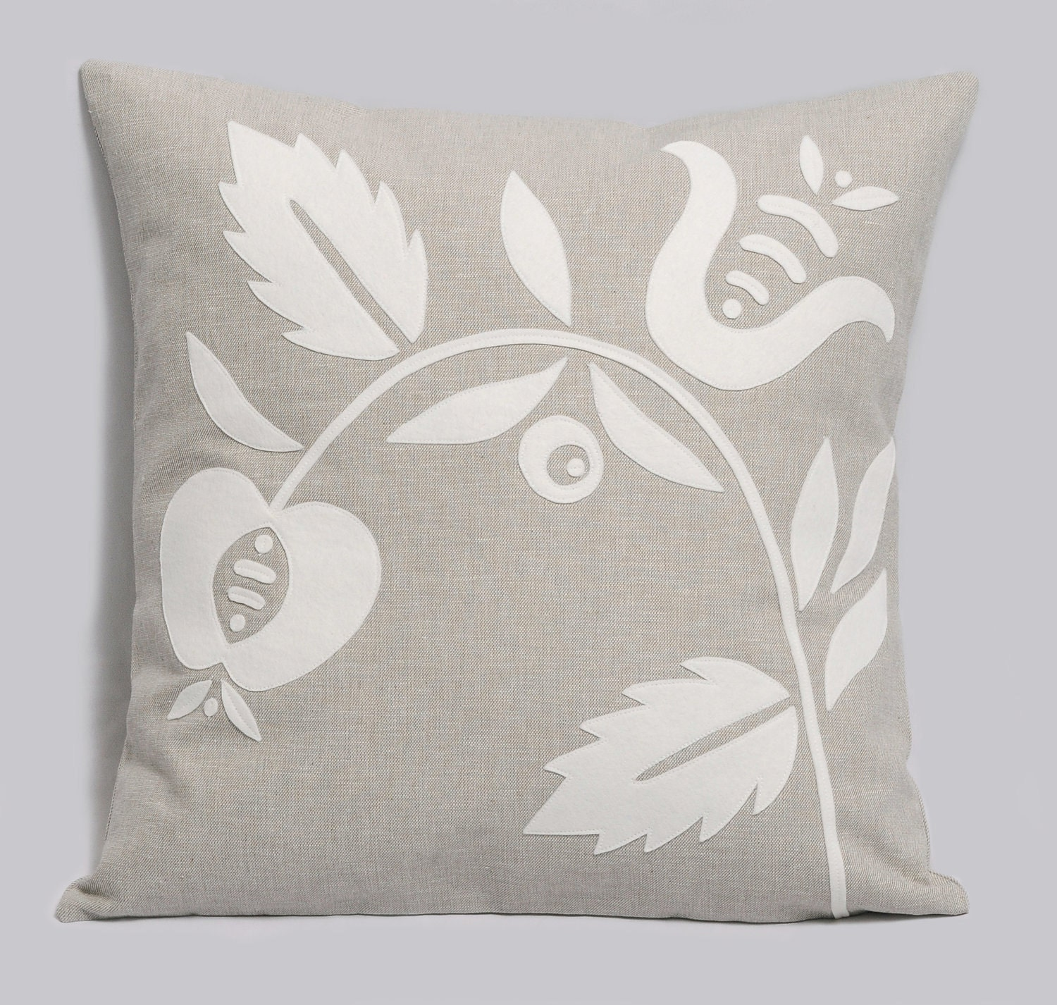 Light Grey Decorative Pillow Cover White Gray by Pillowation