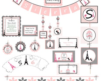 Popular items for paris birthday party on Etsy