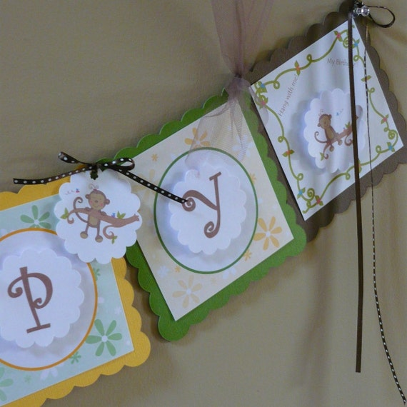 Baby First Birthday Decoration With Monkey Theme Package