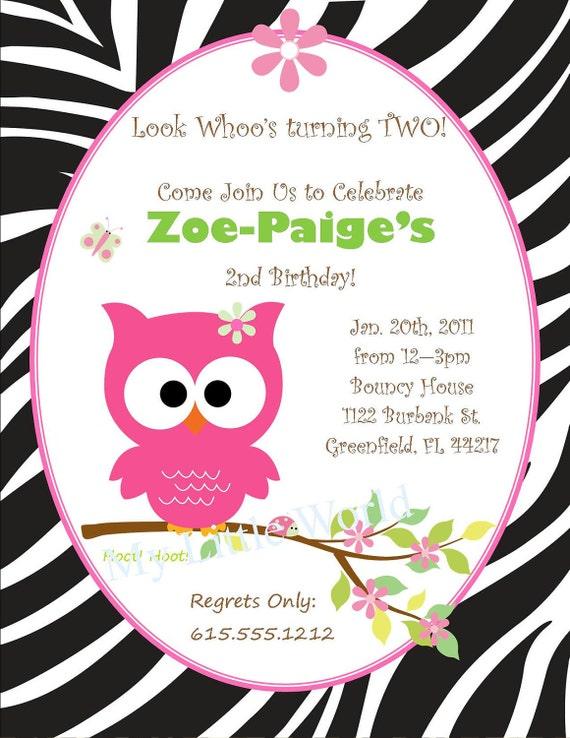 Safari Owl Invitation, owl invitation, owl birthday invitations, safari owl, owl, pink owl, owl birthday invitation, owl birthday