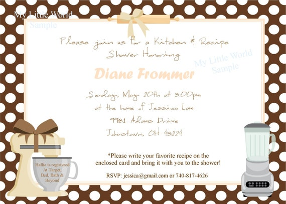 Bridal Shower Invitation - 5x7 DIY PRINTABLE
