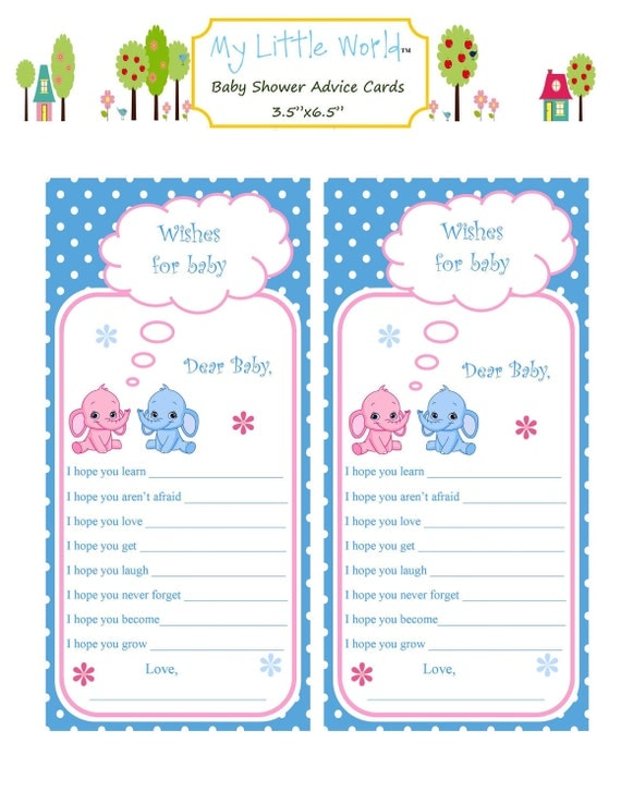 baby advice cards baby shower advice cards for fraternal, Baby shower invitation