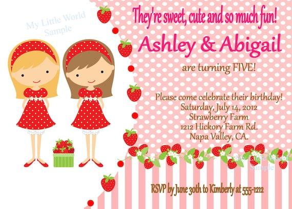 Strawberry Shortcake 1St Birthday Invitations as perfect invitations ideas