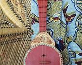GYPSY Folk ART GUITAR ... Not all who wander are lost .. /// Bohemian Art Home Decor /// Mixed Media Folk Art
