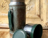 INDUSTRIAL METAL THERMOS /// Vintage Thermos /// Antique Stanley Thermos /// Old Steel Thermos ///