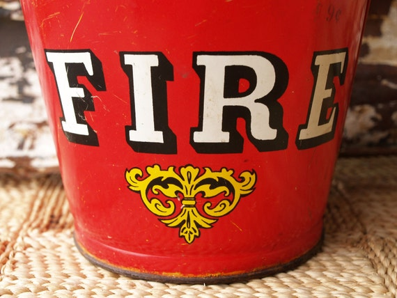 Vintage Toy Fire Bucket Antique By Acesfindsvintage On