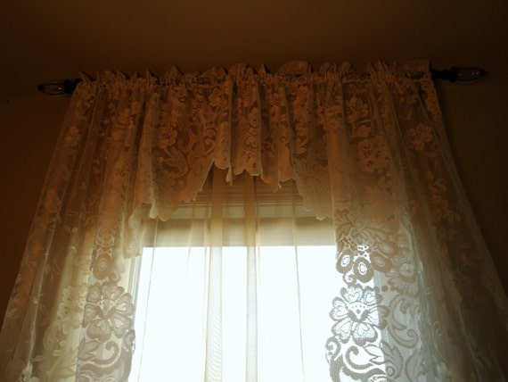 sale vintage curtains vintage lace swag by