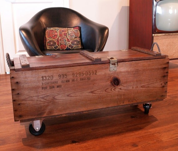 INDUSTRIAL FURNITURE WOOD Box Wooden By