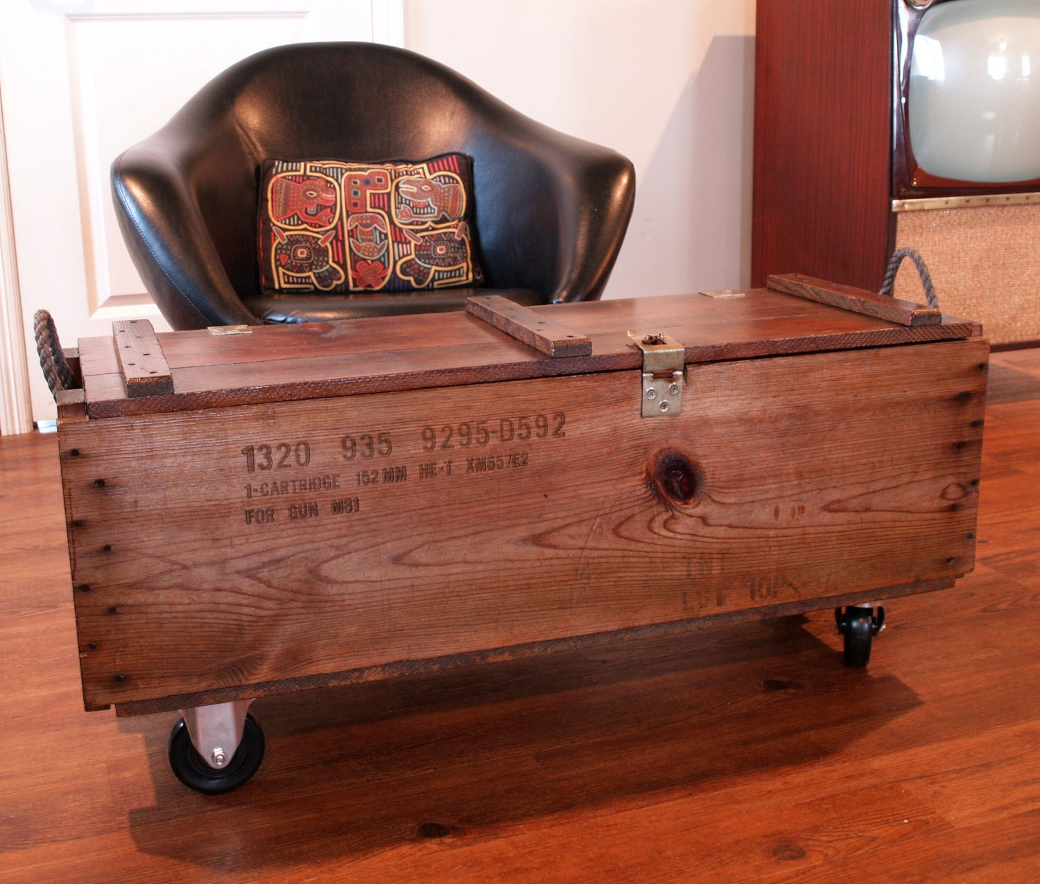Industrial Furniture Wood Box Wooden By Acesfindsvintage
