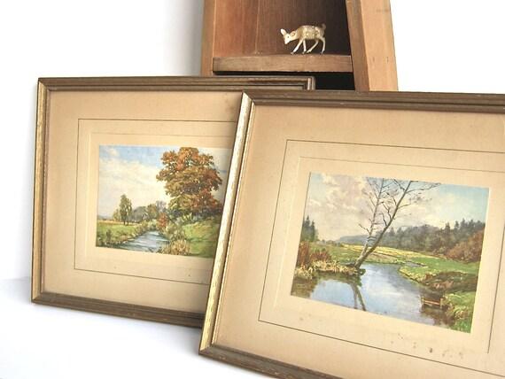 Vintage Autumn Landscapes Framed Prints Connecticut Wood Frames Fall Leaves