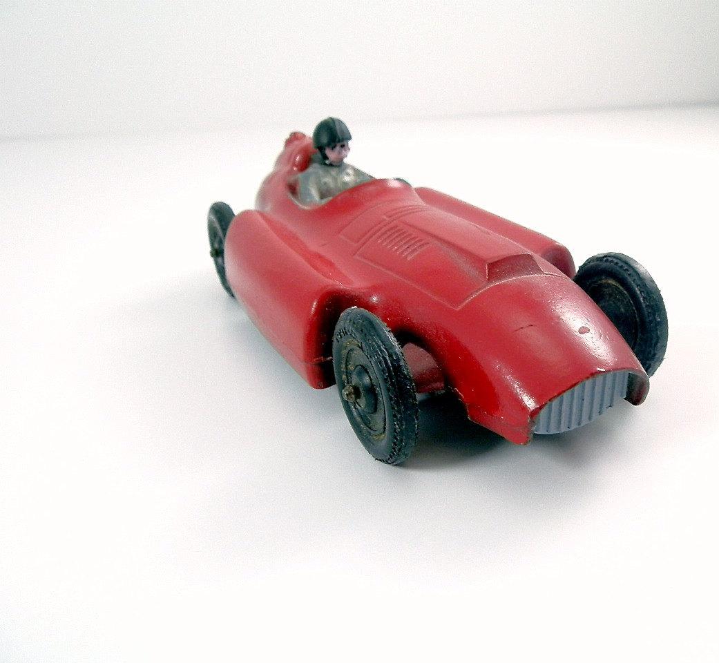 Vintage Toy Car Tootsie Toy Ferrari Lancia by DairyFarmAntiques