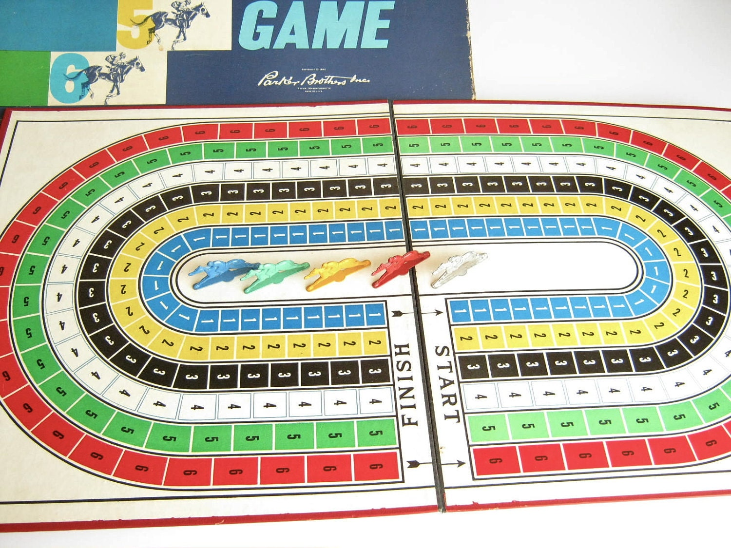 Vintage board game horse race parker brothers by dairyfarmantiques