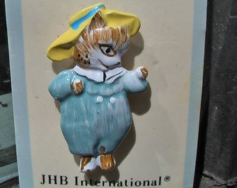 Vintage JHB International Peter Rabbit Collection Hand Painted Pin Tom Kitten
