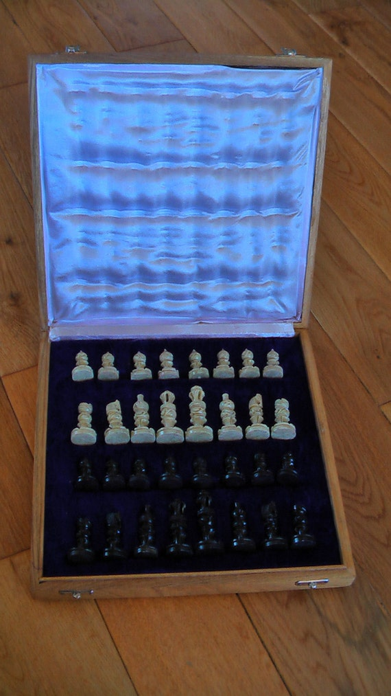 Nice Vintage Stone Chess Set