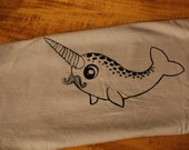 Horatio Mustachio- The Happy Narwhal Tee (Ladies M)
