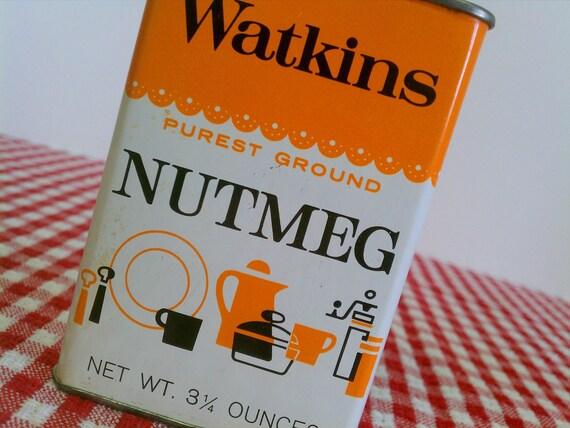Vintage Watkins Nutmeg Spice Tin